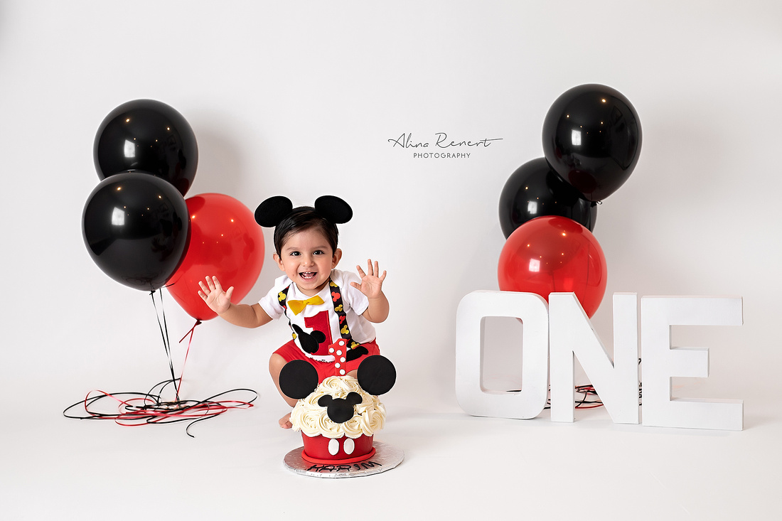 Chicago Studio Family Cake Smash Photographer Alina Renert - Karim